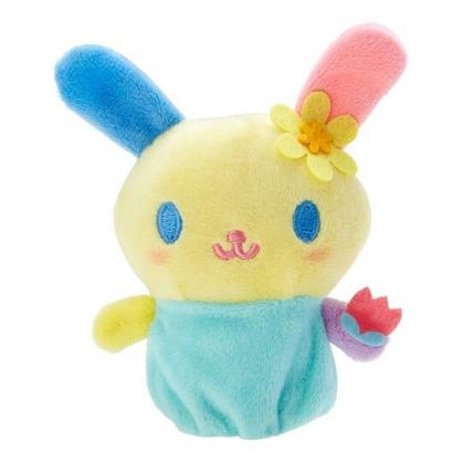 小禮堂 花小兔 手指娃娃 絨毛 玩偶 指偶 手偶 布偶 玩具 (黃藍)