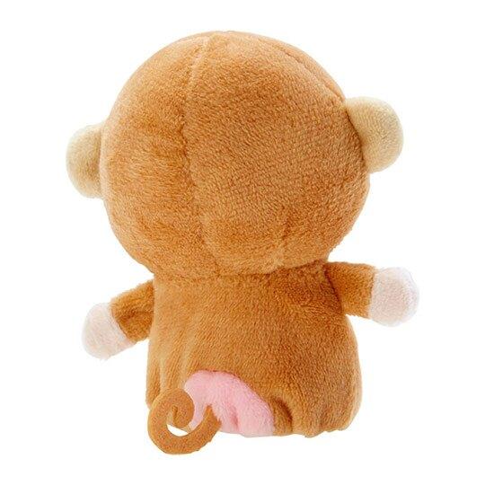 小禮堂 淘氣猴 手指娃娃 絨毛 玩偶 指偶 手偶 布偶 玩具 (棕黃)