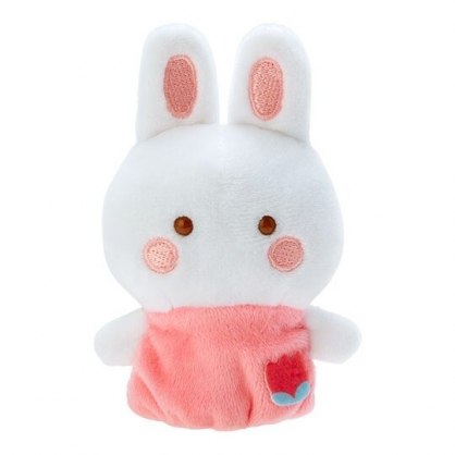 小禮堂 凱莉兔 手指娃娃 絨毛 玩偶 指偶 手偶 布偶 玩具 (粉白)