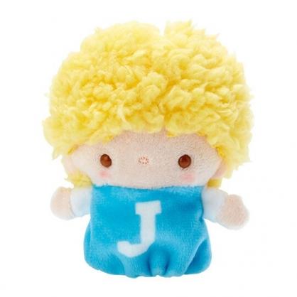 小禮堂 Jimmy 手指娃娃 絨毛 玩偶 指偶 手偶 布偶 玩具 (黃藍)