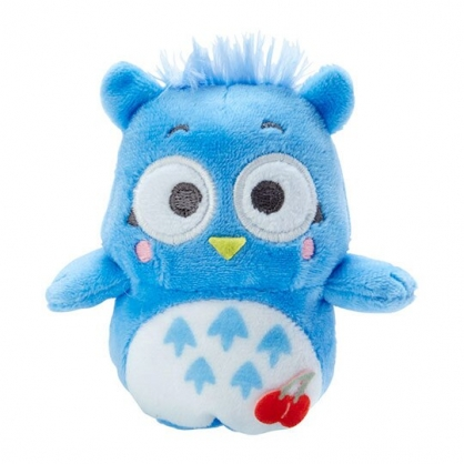 小禮堂 貓頭鷹佩佩 手指娃娃 絨毛 玩偶 指偶 手偶 布偶 玩具 (藍白)