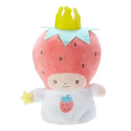 小禮堂 草莓國王 手指娃娃 絨毛 玩偶 指偶 手偶 布偶 玩具 (紅白)