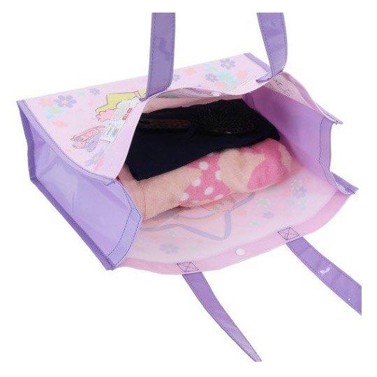 小禮堂 角雙子星 海灘袋 游泳袋 側背袋 防水提袋 泳具袋 (粉紫 戴花圈)