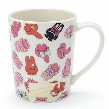 小禮堂 美樂蒂 日製 馬克杯 陶瓷杯 咖啡杯 茶杯 YAMAKA陶瓷 300ml (白紅 45週年)