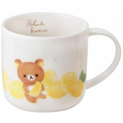 小禮堂 懶懶熊 日製 馬克杯 陶瓷杯 寬口杯 咖啡杯 茶杯 YAMAKA陶瓷 350ml (黃白 檸檬)
