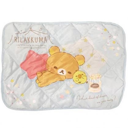 小禮堂 懶懶熊 涼感枕頭套 枕巾 枕套  冷感枕套 涼感寢具 43x60cm (藍棕 星星)