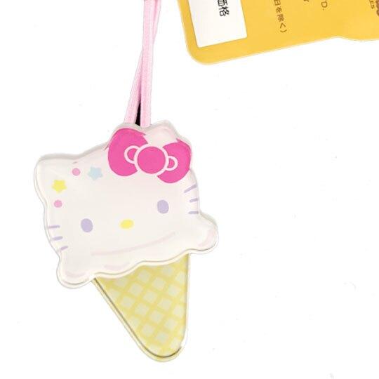 小禮堂 Hello Kitty 彈力髮束 造型髮束 髮圈 髮飾 頭飾 首飾 冰淇淋造型 (米白)