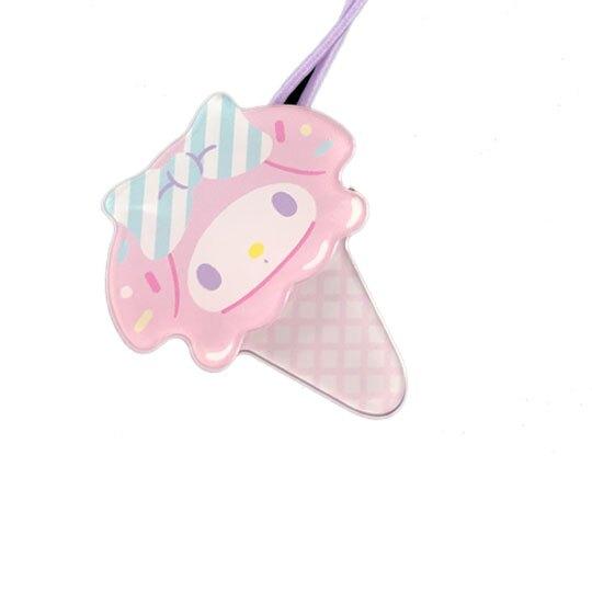 小禮堂 美樂蒂 彈力髮束 造型髮束 髮圈 髮飾 頭飾 首飾 冰淇淋造型 (粉紫)