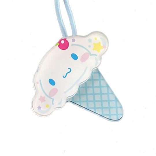 小禮堂 大耳狗 彈力髮束 造型髮束 髮圈 髮飾 頭飾 首飾 冰淇淋造型 (藍白)