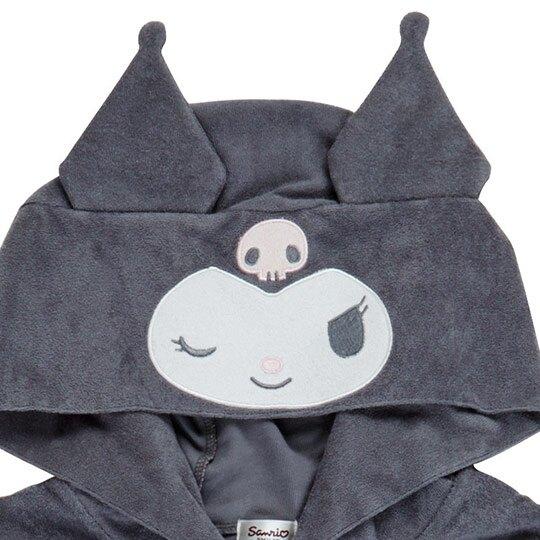 小禮堂 酷洛米 連帽外套 休閒外套 薄外套 運動外套 造型耳朵 (灰 大臉)