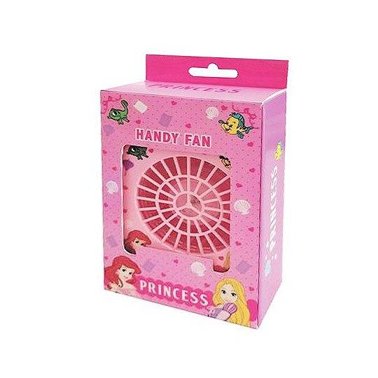 小禮堂 迪士尼 公主 手持電風扇 隨身風扇 桌扇 攜帶風扇 USB電扇 三段式 附頸掛繩 (粉 大臉)