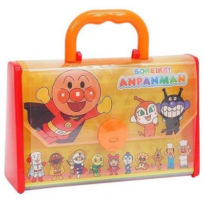 小禮堂 麵包超人 繪圖紙蠟筆組 畫紙 彩繪紙 色筆 塗鴉筆 美勞玩具 附手提包 (紅黃 彩虹)