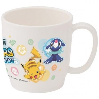 小禮堂 神奇寶貝 寶可夢 日製 塑膠杯 單耳 兒童水杯 茶杯 漱口杯 240ml (白 跳躍)