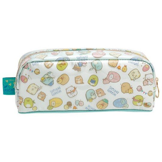 小禮堂 角落生物 拉鍊筆袋 防水 化妝包 收納包 鉛筆盒 (藍 帳篷)