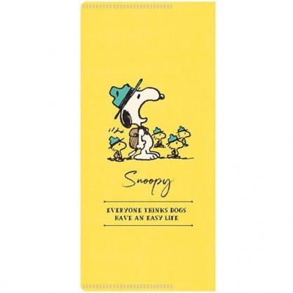 小禮堂 史努比 日製 票據夾 雙開式文件夾 資料夾 口罩夾 護照夾 收納夾 (黃 張嘴)