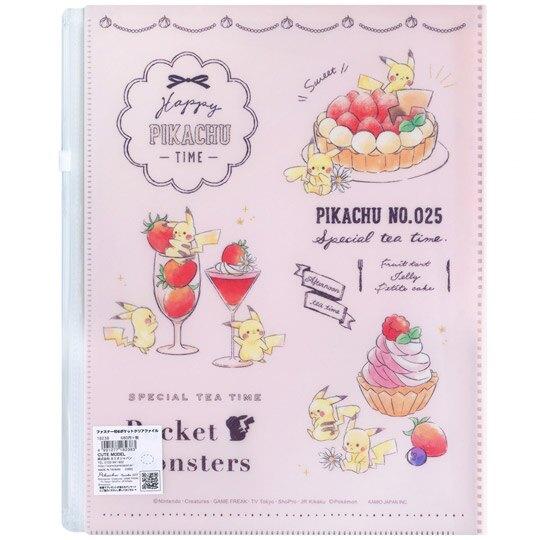 小禮堂 神奇寶貝 寶可夢 資料夾 A4 雙開式文件夾 檔案夾 L夾 附夾鏈袋 (粉 甜點)