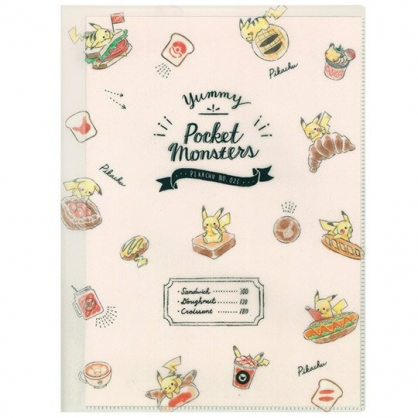 小禮堂 神奇寶貝 寶可夢 資料夾 A4 雙開式文件夾 檔案夾 L夾 (米 食物)