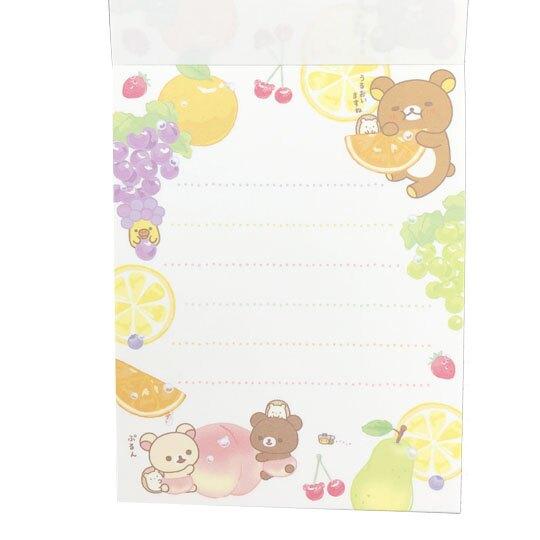 小禮堂 懶懶熊 日製 迷你 便條本 留言紙 信紙 便條紙 (2款隨機)