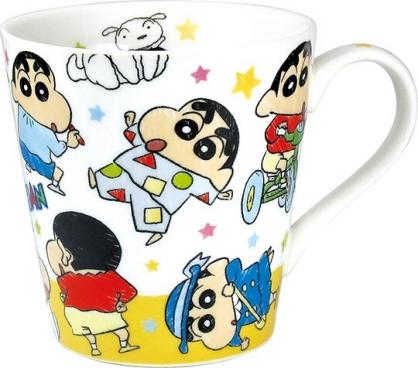 小禮堂 蠟筆小新 馬克杯 陶瓷杯 咖啡杯 茶杯 (黃白 多服裝)