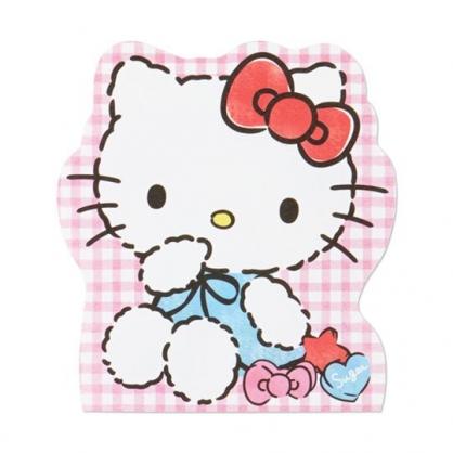 小禮堂 Hello Kitty 萬用卡片 造型卡片 祝賀卡 送禮卡 感恩卡 節慶卡 (紅 格紋)