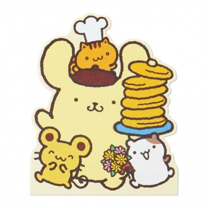 小禮堂 布丁狗 萬用卡片 造型卡片 祝賀卡 送禮卡 感恩卡 節慶卡 (黃 鬆餅)