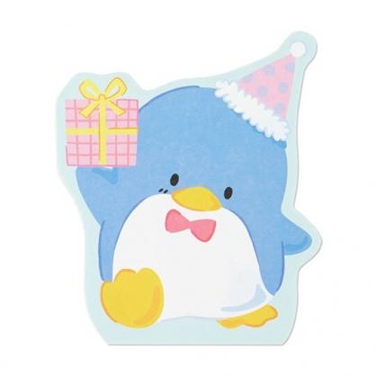 小禮堂 山姆企鵝 萬用卡片 造型卡片 祝賀卡 送禮卡 感恩卡 節慶卡 (藍 禮物)