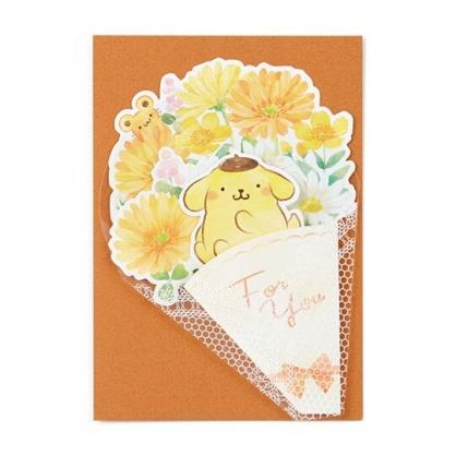 小禮堂 布丁狗 萬用卡片 祝賀卡 送禮卡 感恩卡 節慶卡 花束造型 (黃棕)