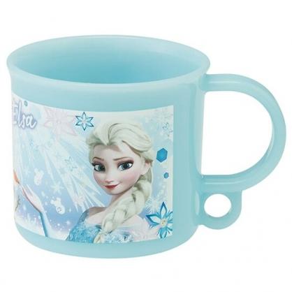 小禮堂 迪士尼 冰雪奇緣 日製 塑膠杯 單耳 兒童水杯 茶杯 漱口杯 200ml (藍 城堡)