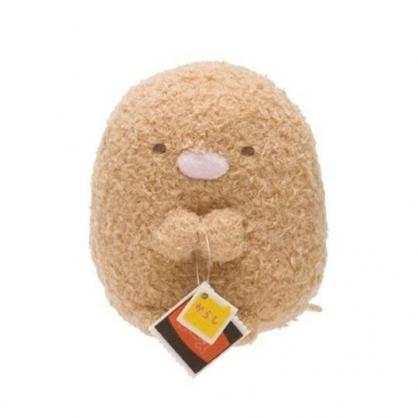 小禮堂 角落生物 豬排 迷你 沙包玩偶 絨毛 娃娃 布偶 玩具 (棕 趴姿)