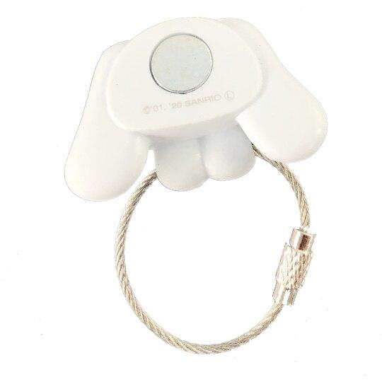 小禮堂 大耳狗 磁吸式鑰匙圈 吊飾 掛飾 吸鐵 鑰匙收納 (藍白 大臉)