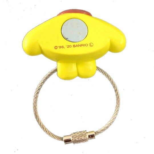 小禮堂 布丁狗 磁吸式鑰匙圈 吊飾 掛飾 吸鐵 鑰匙收納 (黃棕 大臉)