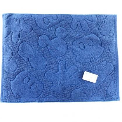 小禮堂 迪士尼 米奇 毛巾腳踏墊 浴墊 地墊 踏墊 吸水腳踏墊 45x60cm (深藍 褲子)