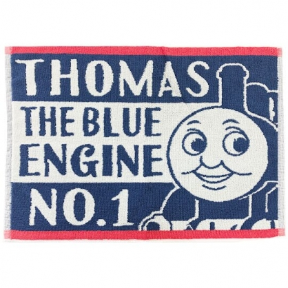 小禮堂 湯瑪士火車 毛巾腳踏墊 浴墊 地墊 踏墊 吸水腳踏墊 45x60cm (藍紅 大臉)