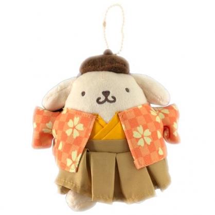 小禮堂 布丁狗 絨毛吊飾 娃娃 布偶 玩具 吊飾 掛飾 鑰使圈 鎖圈 (橘 和服)