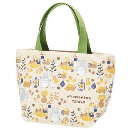 小禮堂 宮崎駿 龍貓 手提袋 便當袋 外出袋 帆布袋 (米橘 提籃)