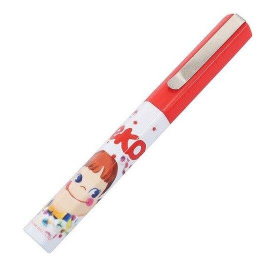 小禮堂 不二家PEKO 攜帶式剪刀 筆型剪刀 事務剪 事務用品 (紅白 糖果)