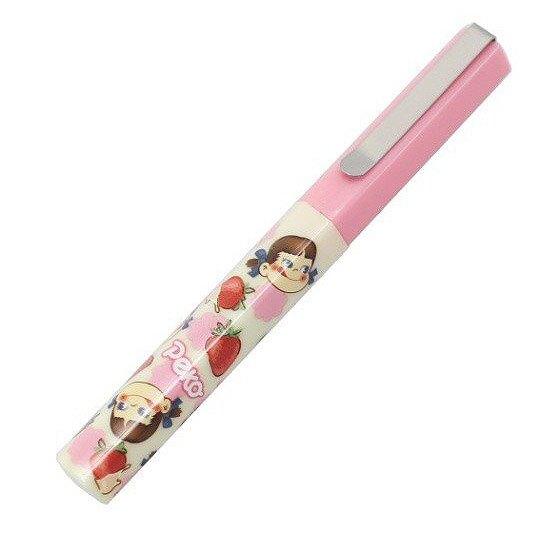 小禮堂 不二家PEKO 攜帶式剪刀 筆型剪刀 事務剪 事務用品 (粉米 草莓)