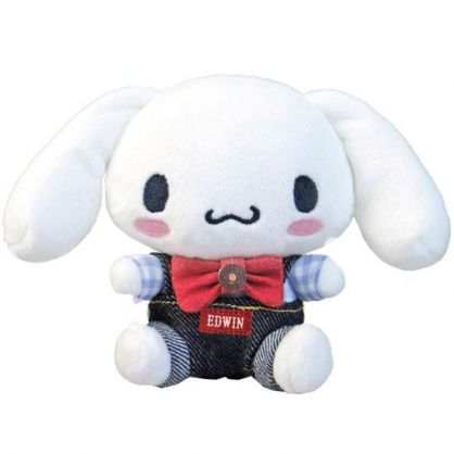 小禮堂 大耳狗 x EDWIN 迷你 沙包玩偶 絨毛 娃娃 布偶 玩具 (深藍白)