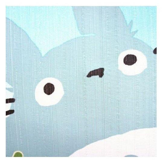 小禮堂 宮崎駿 龍貓 日製 長門簾 棉麻 布簾 窗簾 壁掛裝飾 85x150cm (藍黃 花朵)