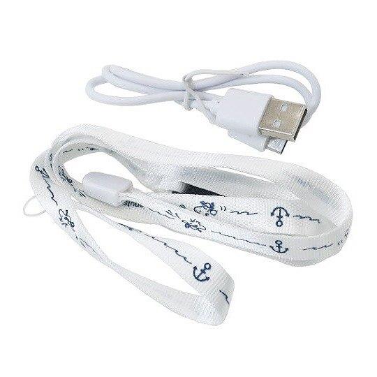 小禮堂 史努比 手持電風扇 隨身風扇 手握扇 桌扇 USB電風扇 三段式 附腕繩 (藍白 衝浪)
