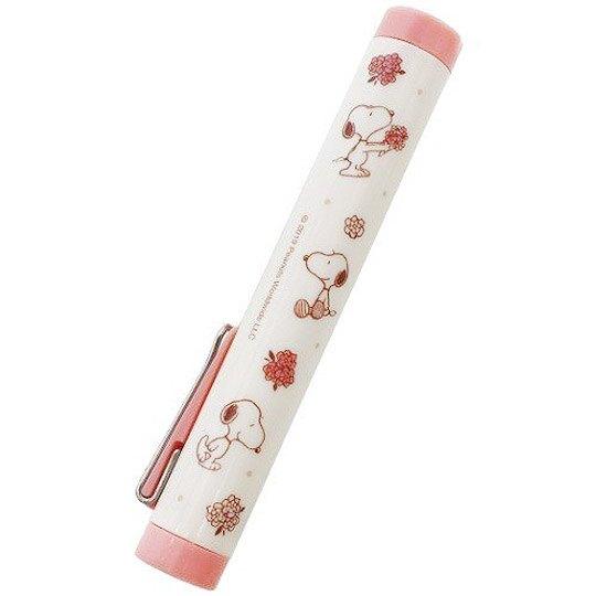 小禮堂 史努比 攜帶式剪刀 筆型剪刀 事務剪 事務用品 (粉米 花束)