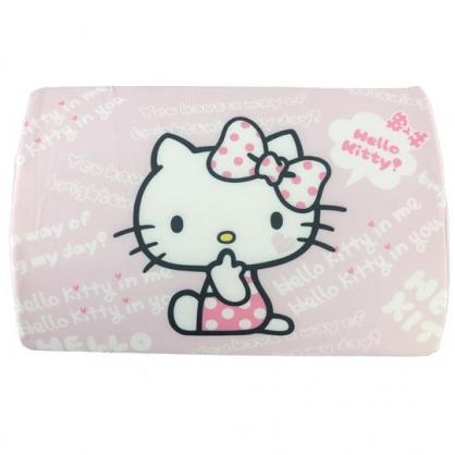 小禮堂 Hello Kitty 方形棉質枕頭 兒童枕頭 記憶枕 午睡枕 (粉白 側坐)