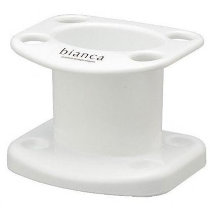 小禮堂 日本INOMATA 日製 塑膠牙刷架 牙刷收納架 牙刷筒 牙膏架 (白)