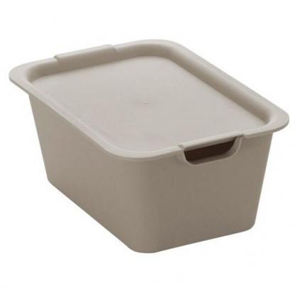 小禮堂 山田化學 日製 方形拿蓋收納箱 塑膠收納箱 玩具箱 可堆疊 (灰)