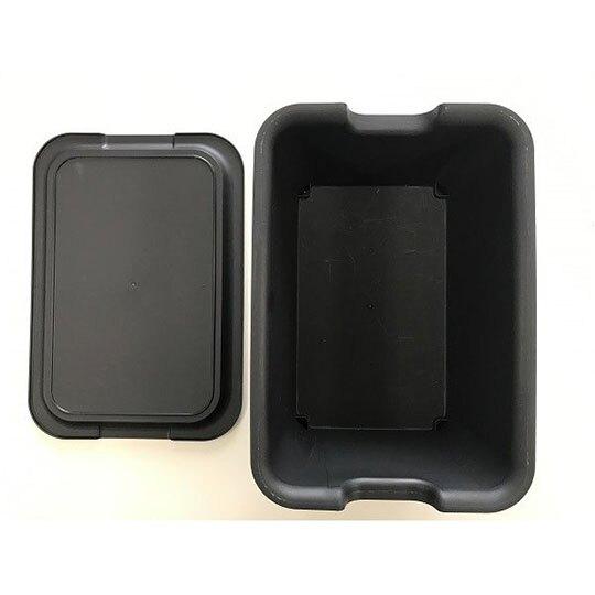 小禮堂 山田化學 日製 方形拿蓋收納箱 塑膠收納箱 玩具箱 可堆疊 (黑)