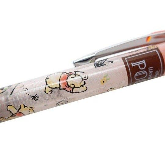 小禮堂 迪士尼 小熊維尼 日製 自動鉛筆 自動筆 0.5mm Pentel EnerGel (橘 花朵)