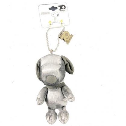 小禮堂 史努比 絨毛吊飾 娃娃 布偶 掛飾 鑰匙圈 鎖圈 (銀 70週年)