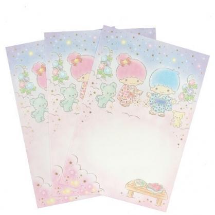 小禮堂 雙子星 日製 燙金明信片卡片 萬用卡片 賀卡 (3入 粉 和服)