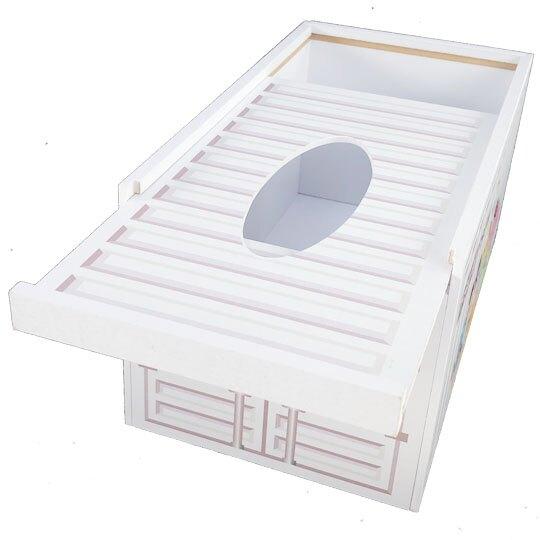 小禮堂 迪士尼TsumTsum 滑蓋木製面紙盒 抽取式紙巾盒 衛生紙盒 (白 貨櫃)
