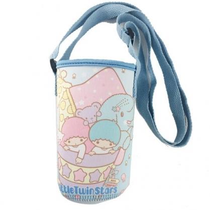 小禮堂 雙子星 潛水布水壺背袋 環保杯袋 水壺套 杯套 500ml (藍 動物)